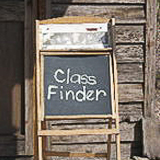 Class Finder Sign